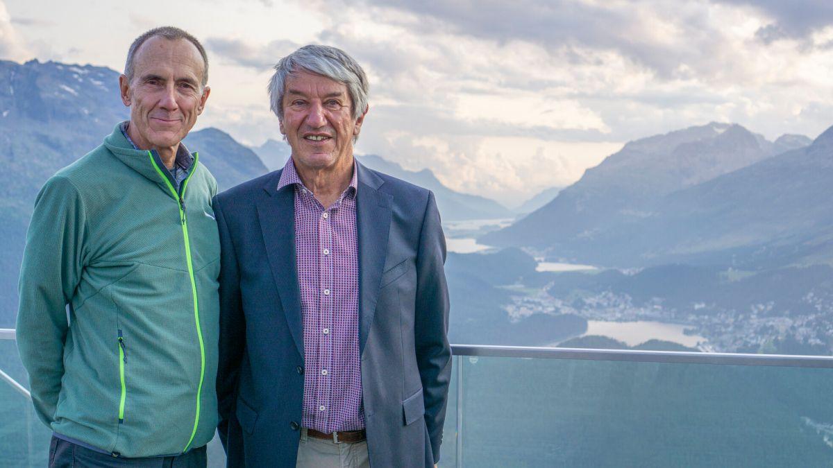Duri Bezzola (links) hat das Präsidium der Pro Lej da Segl von Jost Falett übernommen. Foto: Reto Stifel