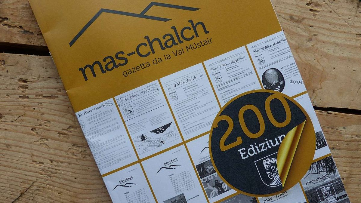 Sülla 200avla ediziun dal Mas-chalch da la Val Müstair as vezza ün pêr exaimpels dals prüms da quists mas-chalchs, fotografia: Flurin Andry