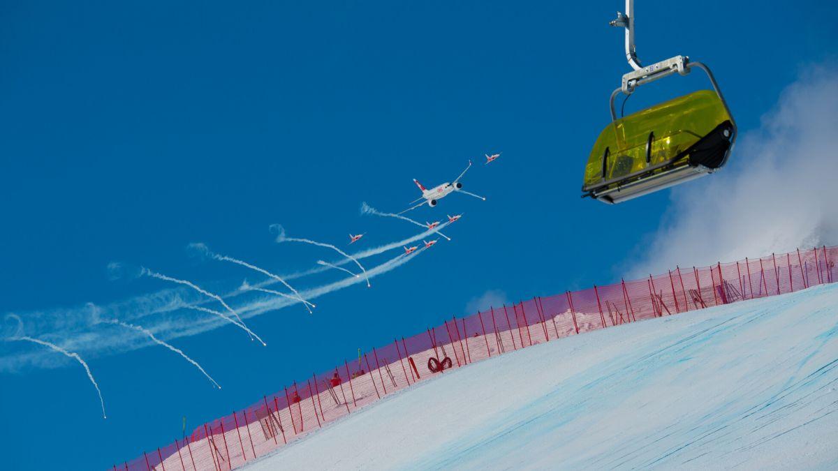 Flugshow an der Ski WM 2017 in St.Moritz.    Foto: fotoswiss.com/Giancarlo Cattaneo