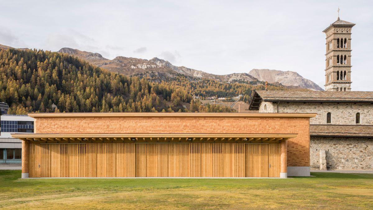 Das Höhentrainings- und Wettkampfzentrum in St. Moritz wird mit dem Prix Legno ausgezeichnet:  Foto: Laura Egger, Zürich