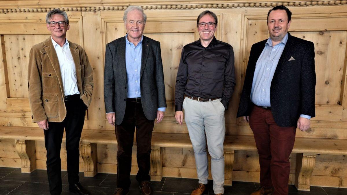 Der Verwaltungsrat der ESTM AG: Fredi Gmür, Martin Berthod, Kurt Bobst, Claudio Dietrich (v.l.n.r.)Foto: ESTM AG