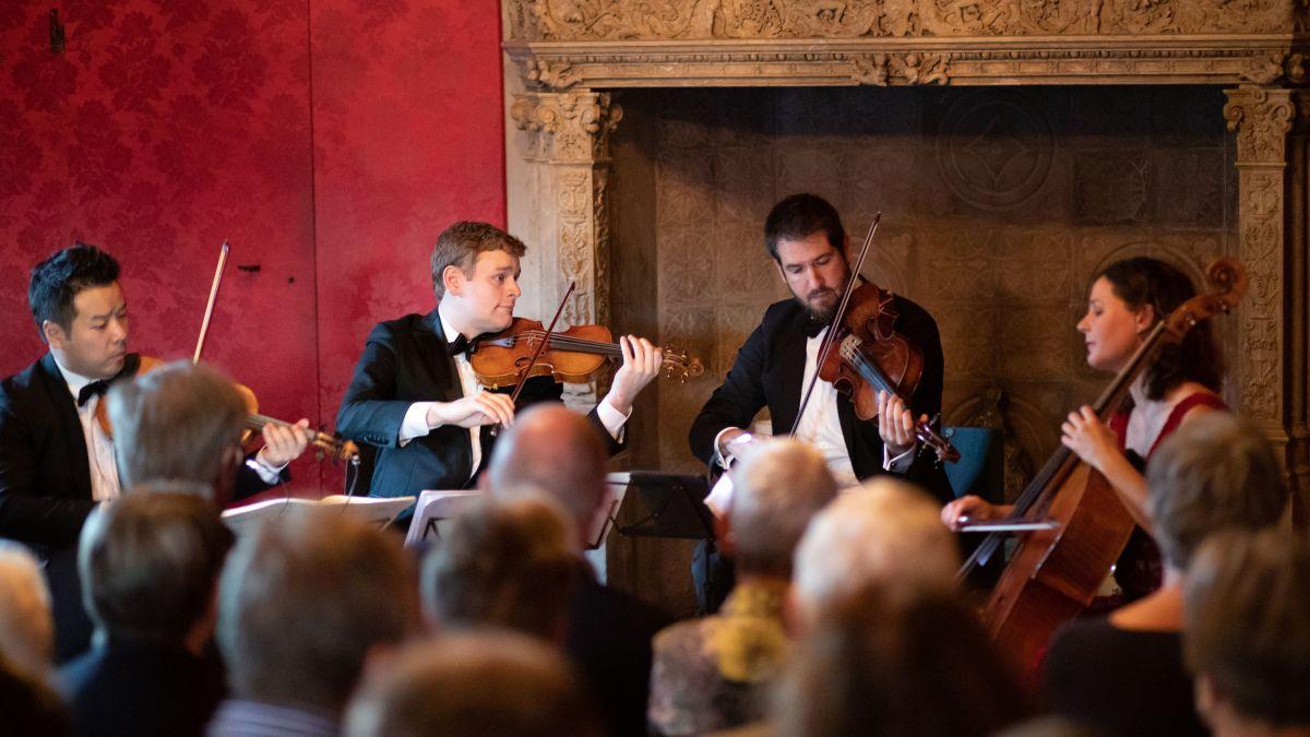 Eir ingon suna il Quartet Stradivari i'l Chastè Tarasp (fotografia: mad).