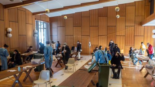 Testzentrum Trinkhalle in St.Moritz. Foto: Daniel Zaugg
