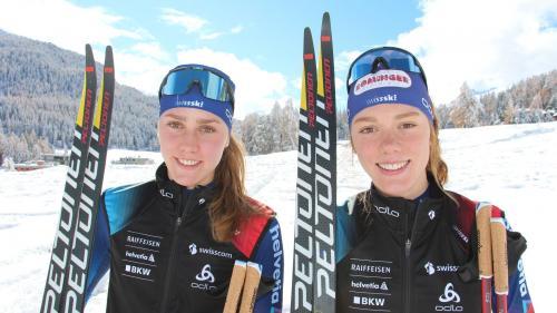 Liefen mit dem Schweizer Team auf Rang den vierten Rang: Marina und Nadja Kälin. Foto:z. Vfg