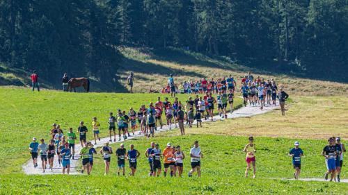 Dieses Jahr wird der Engadiner Sommerlauf in anderer Form stattfinden. Zu den Neuerungen gehört ein dreitägiges Etappenrennen. Zudem wird der Zieleinlauf in St.Moritz sein – und nicht wie bisher in Samedan. Foto: Daniel Zaugg