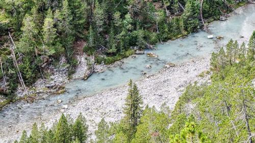 Der PCB-belastete obere Spölbach im Schutzgebiet des Schweizerischen Nationalparks. Foto: Jon Duschletta