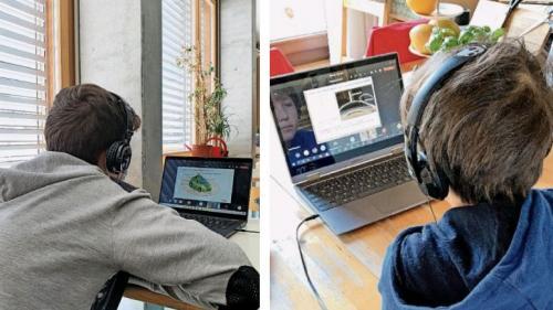 550 Engadiner Schüler aus sechs Klassenstufen nahmen an den Online-Vorträgen teil. Fotos: z. Vfg.