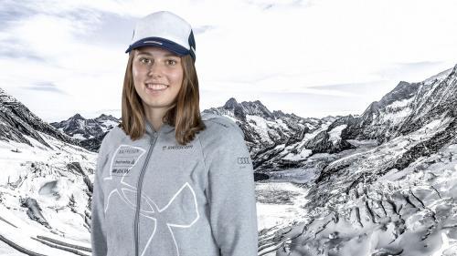 Stephanie Jenal darf sich über den dritten Rang bei den Schweizer Meisterschaften freuen. Foto: Swiss Ski