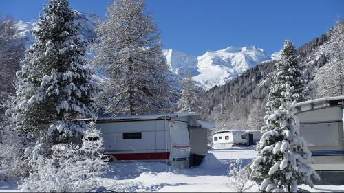 Wintercampings wie derjenige von Morteratsch wurden diesen Winter von den Gästen gestürmt und gehören zu den Gewinnern der Saison. Foto: Peter Käch