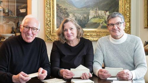 Die Herausgeber des Buches: Rolf Zollinger, Andrea Kühbacher, Lois Hechenblaikner (von links). Foto: z. Vfg