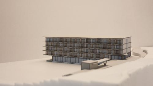 Visualisierung des geplanten Hotels Flaz. Quelle: Stricker Architekten