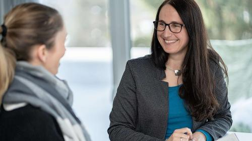 Martina Stadler es daspö l'on 2017 directura da la TESSVM (fotografia: Dominik Täuber).