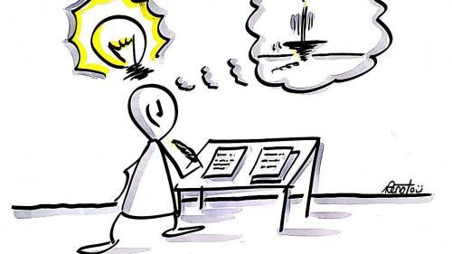 In tuot sun gnüts inoltrats 157 texts d'uffants, giuvenils e giuvens creschüts in vallader e puter per la concurrenza da scriver rumantsch «Pledpierla» (Illustraziun: Renato Muolo).