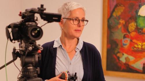 La cineasta Susanna Fanzun in acziun (fotografia: Beat Müller Dschoint Ventschr)