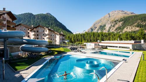 Am Montag erfolgt die Gesamtöffnung des Bellavita Erlebnisbades und des Spa in Pontresina. Die Vorbereitungen laufen auf Hochtouren.Foto: Z. Vfg.