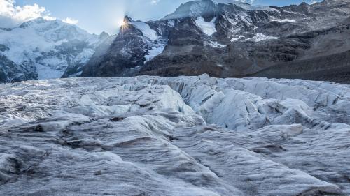 Die Folgen der Klimaerwärmung lassen sich gerade im Engadin besonders gut feststellen. Die Gletscher schmelzen immer schneller. Foto: Daniel Zaugg