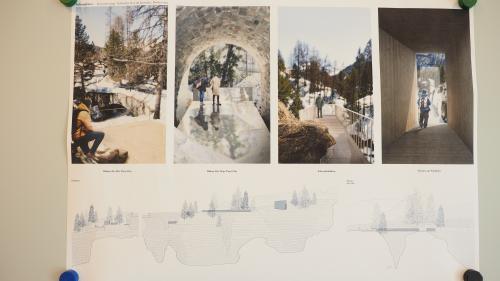 Das Siegerprojekt von Lippuner Sabbadini Architekten wartet mit überraschenden Zugängen und Blickwinkeln auf.        Foto: Marie-Claire Jur