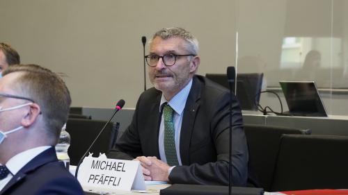 Michael Pfäffli ist Präsident der parlamentarischen Untersuchungskommission, die sich mit dem Bündner Baukartell befasste. Foto: Reto Stifel