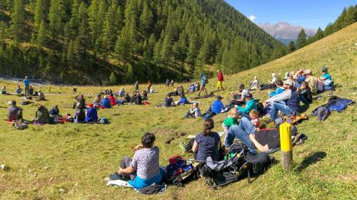 Il Parc Naziunal Svizzer ha gnü l'on passà ün record da visitaders (fotografia: Hans Lozza/PNS).