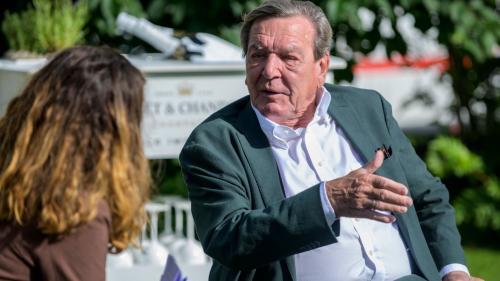 Gerhard Schröder im Gespräch mit der EP/PL. Foto: fotoswiss.com/ Giancarlo Cattaneo