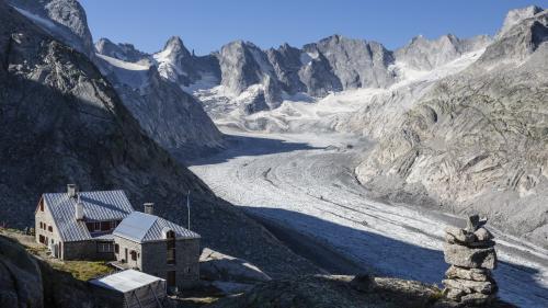 Die Fornohütte der SAC-Sektion Rorschach thront über dem Vadrec del Forno in der Val Bregaglia nahe der italienischen Grenze.Foto: SAC Sektion Rorschach